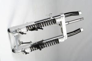 GL1800トライク  フロントフォークASSY  ¥864000(セットアップ料金含む) ブヒン内容 フォークステム フォーク&フロントサス ハンドルダンパー フロントフェンダー フロントホイルASSY165/65R14 ブレーキホース