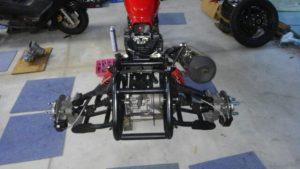 ホンダCB250用 トライクキット 独立サス バックギヤー付 き製作中 完成品 ¥800'000